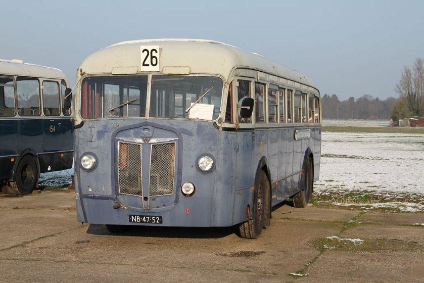 1941 Kromhout-Verheul-bus 157, Gemeentetram Amsterdam