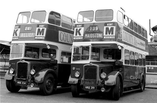 1944 Bristol K6As which were rebodied by Weymann