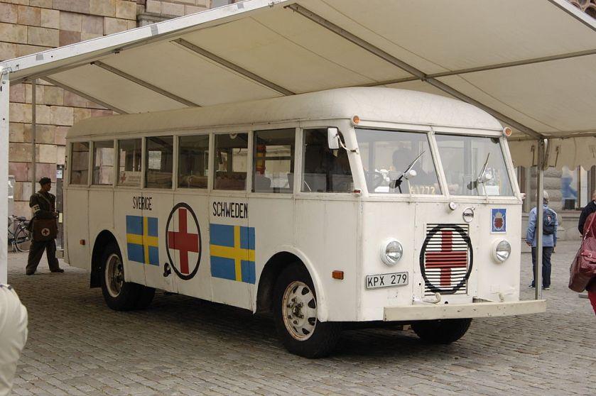 1945 Vitabussar White Volvo aid