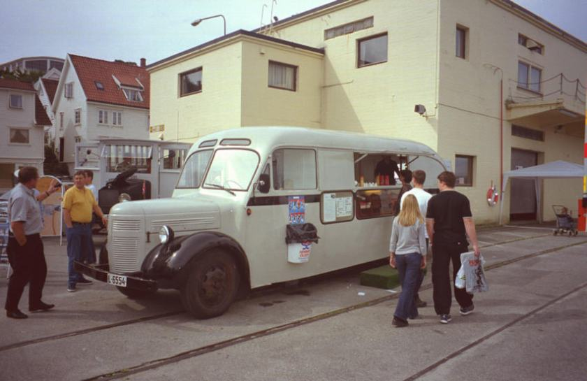 1946 Volvo LV-128D, or better known as Pølsebussen (the Hot-Dog bus).