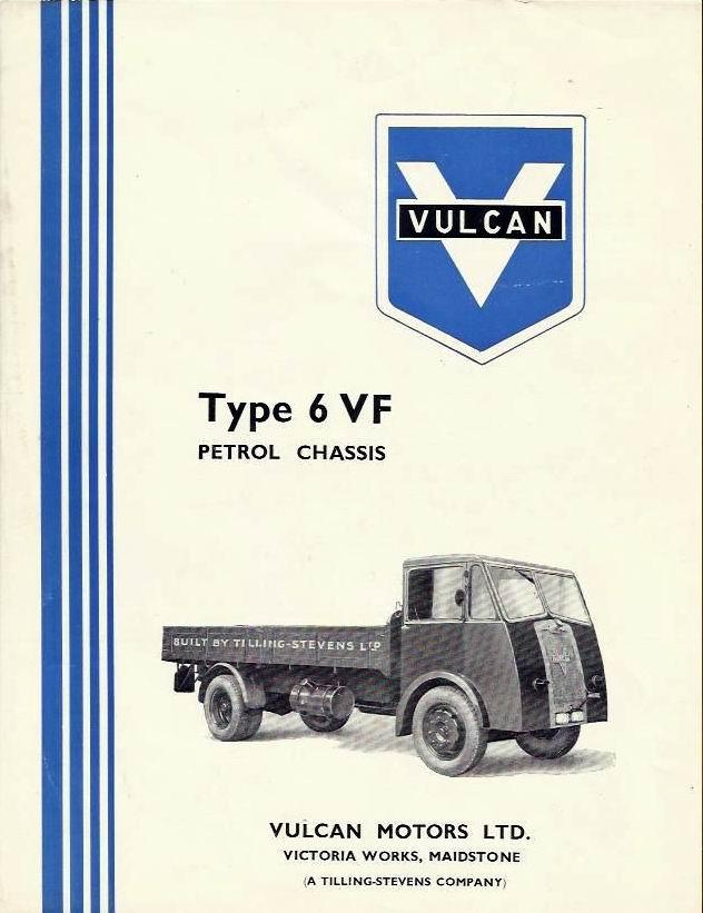 1946 VULCAN (TILLING STEVENS) TYPE 6 VF TRUCK LORRY SALES BROCHURE 1946