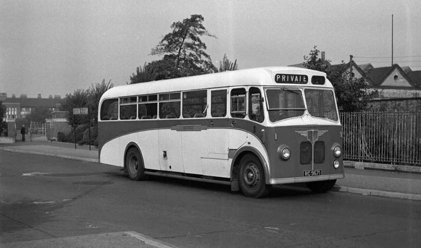1947 AEC Regals with Willowbrook B35F bodies which were rebuilt by Willowbrook to FDP39F in 1958