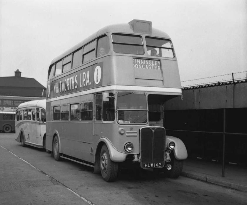 1947 AEC Regent III chassis carried a Weymann H30-26R body