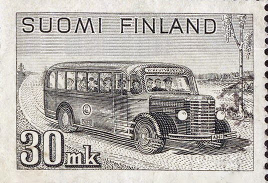 1947 Finland 1947 bus stamp