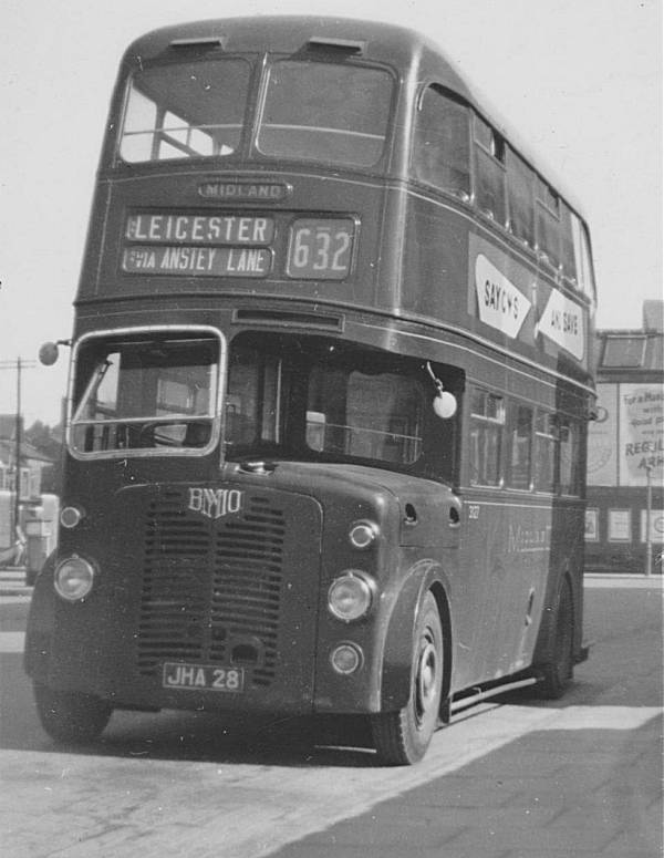 1948 AEC Regent 3127, JHA28, with Brush H30-26R body BMMO