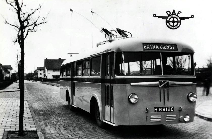 1948 DAF Trolleybus met Verheul opbouw
