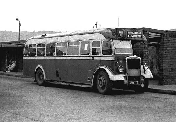 1948 Leyland PS1 GWY77 in 1954 with a secondhand Brush B34F body
