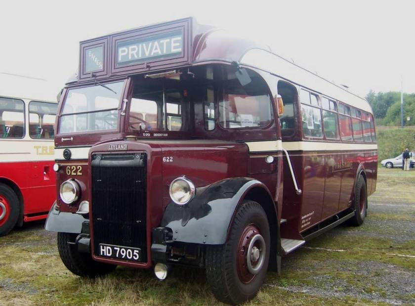 1948 Leyland Tiger PS1 with Brush bodywork