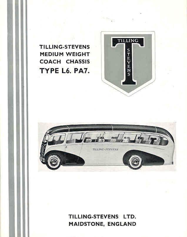 1948 Tilling Stevens L6PA7 Bus Sales Brochure