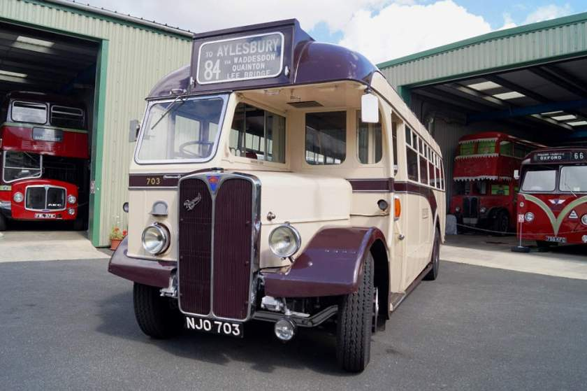 1949 AEC Regal 703, NJO703, has Willowbrook dual purpose 32 seat body