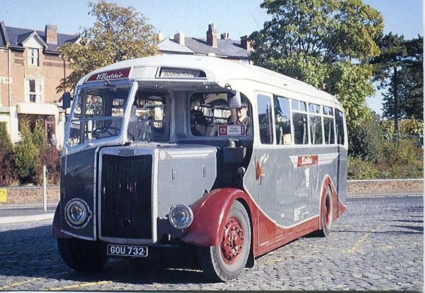 1949 Preserved Tilling Stevens single deck bus GOU 732 Kidderminster 1989 postcard