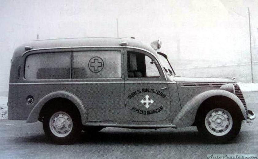 1949 viberti fiat 1100BLR ambulanza Ordine Mauriziano