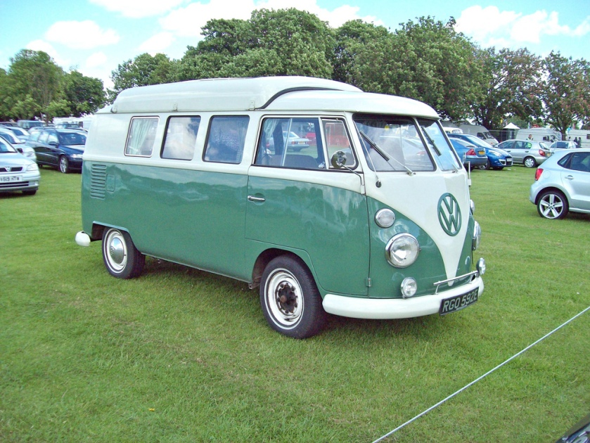 1950-67 Volkswagen Kombi Type 2 Mark T1 also called Transporter Originally with an engine of 1131cc.