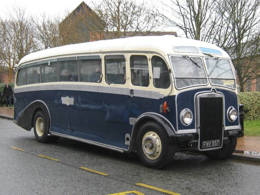 1950 Leyland Tiger PS2 with Whitson FC33F bodywork