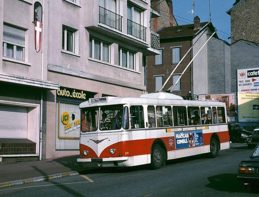 1950 Limoges Vetra VBRh trolleybus 271 in 1988