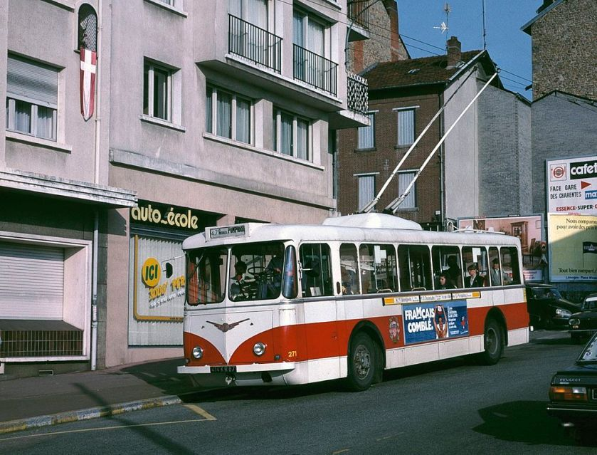 1950 Limoges Vetra VBRh trolleybus 271 in 1988