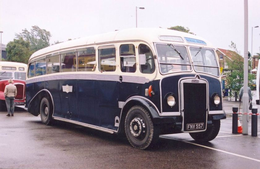 1950 Whitson bodied Leyland Tiger PS2-3 FNV 557