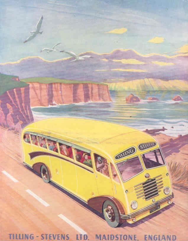1951 Tilling Stevens Express Mark II Tour Bus Brochure