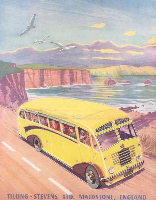 1951 Tilling Stevens Express Mark II Tour Bus Brochure
