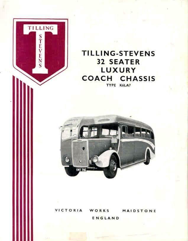 1951 Tilling Stevens K6LA7 32 Passenger Bus Brochure