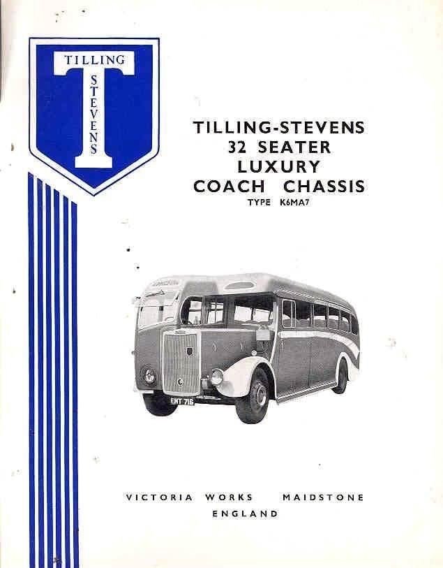 1951 Tilling Stevens K6MA7 32 Passenger Bus Brochure