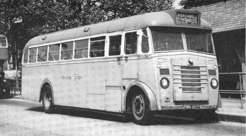 1951 Tilling Stevens L4MA8 Creamline HWN 403