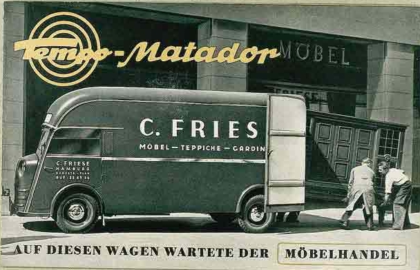 1951 Volkswagen Tempo Matador Advertisement