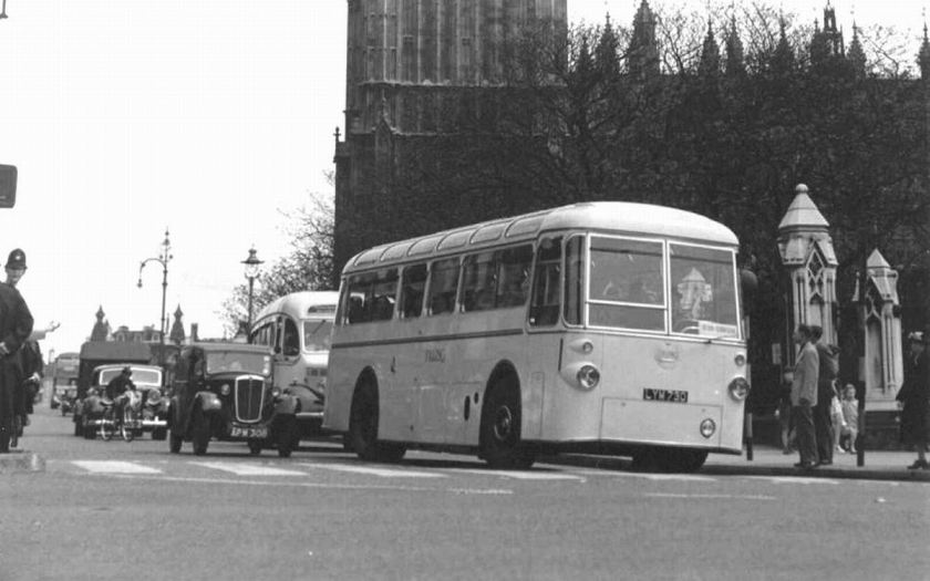 1952 AEC Regal IV with Tilling Regal LYM730, AEC Regal IV with ECW coach body