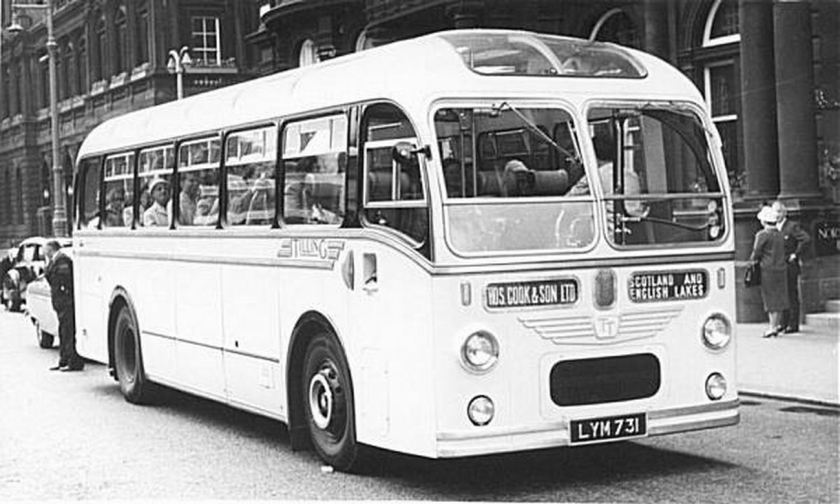 1952 AEC Regal IVwith Tillings LYM731 body and rebodied by ECW in 1960