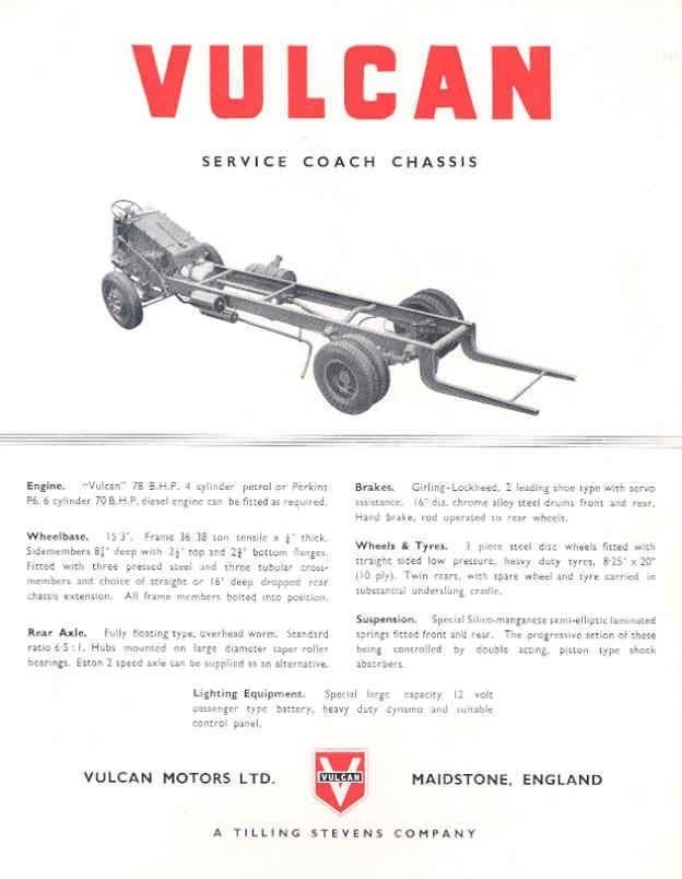 1952 Vulcan Chassis ad