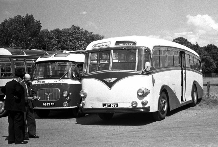 1953 Marshall, Bradford LWT149 AEC Regal IV Whitson C41C