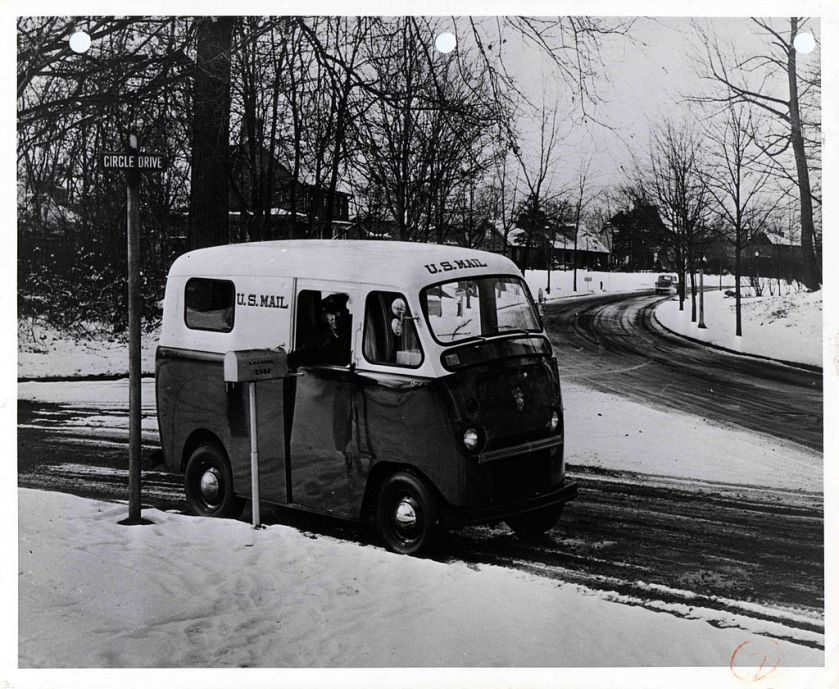 1953 Twin Coach postal van