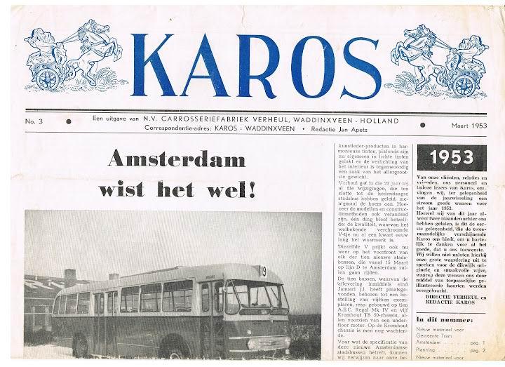 1953 VERHEUL KAROS nieuwsblad-3 Maart 1953