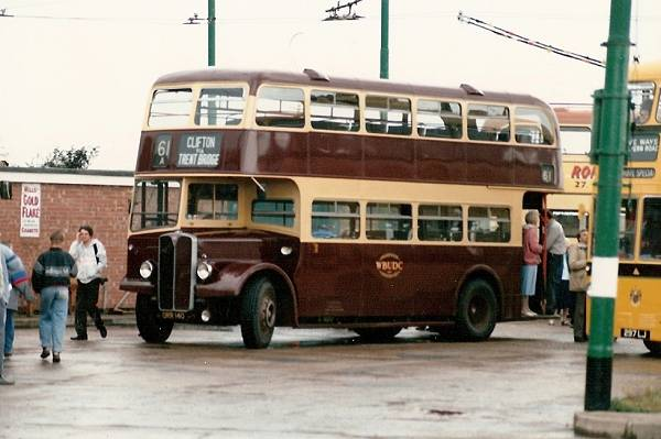 1954 AEC Regent III with lowbridge Willowbrook bodywork