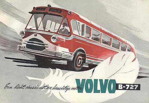 1954 Volvo B727 Bus Brochure Image