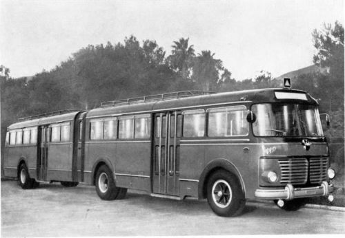 1955 Fiat 682RN Viberti Articulated Bus Factory Photo