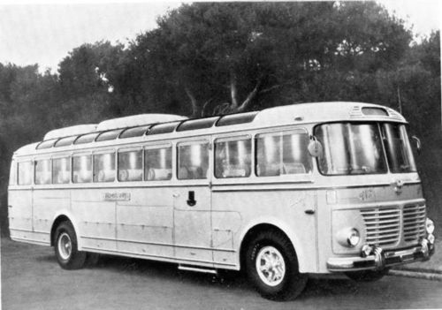 1955 Fiat 682RN Viberti GT Intercity Bus Factory Photo