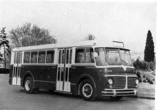 1955 Fiat 682RN Viberti Transit Bus Factory Photo