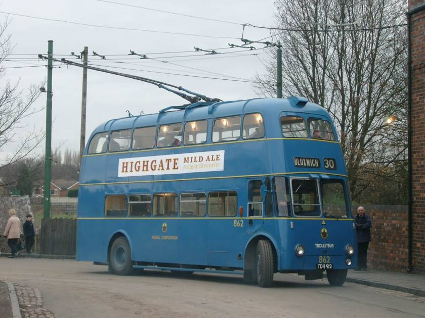 1955 Sunbeam F4A trolleybus with Willowbrook 70 seat rear entrance bodywork