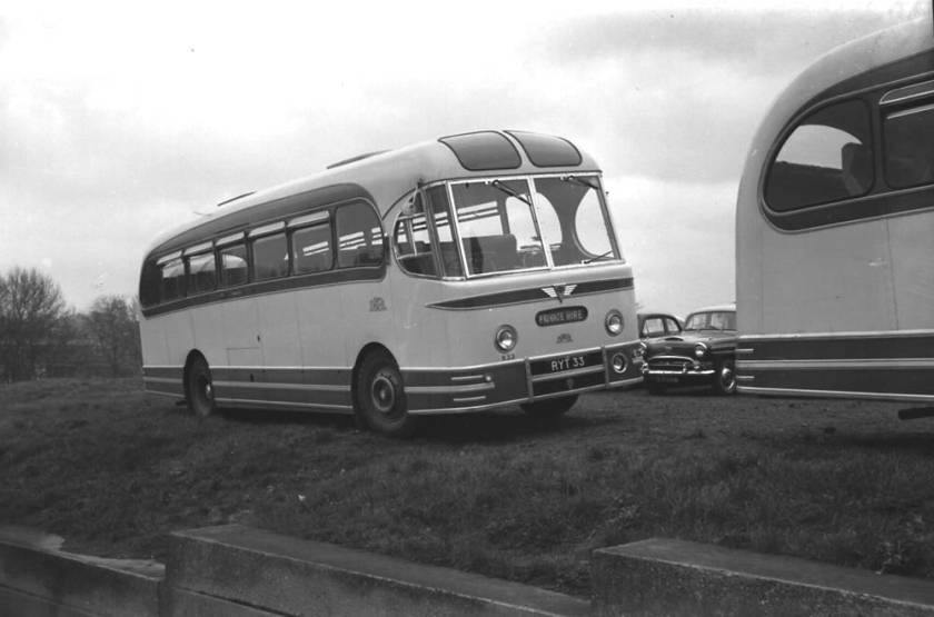 1956 AEC MU3RV Reliance with a Weymann Fanfare C41F body