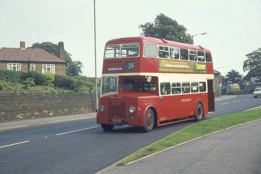 1956 Leyland Titan PD2-21 with Weymann Orion L30-28RD body