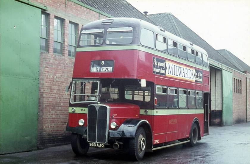 1957 A.E.C. MD3RV Regent V with a Weymann H33-28RD body