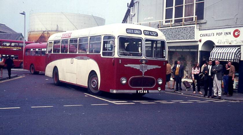 1957 Leyland Tiger Cub PSUC1-2, VTX44, with Willowbrook DP41F body