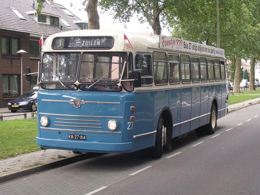 1957 Leyland Verheul stadsbus 27, GEVU, Utrecht.