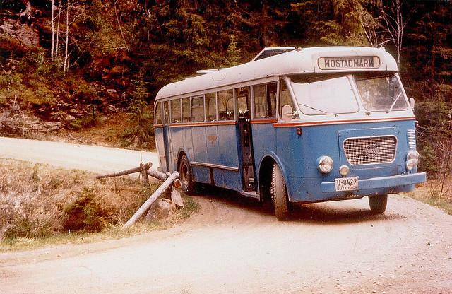1957 Volvo B725 mod fra NSB Trondheim med VBK M53-karosseri og regnr U-8422