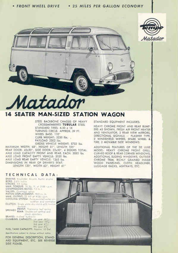 1958 Tempo Matador Station Wagon Brochure 1958