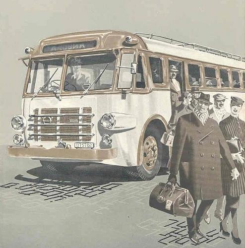 1958 Volvo B615 Bus Brochure Image