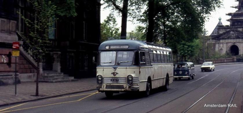 1959 Verheul bodied Leyland Worldmaster M&K Centraal Nederland semi tour bus Nr 187