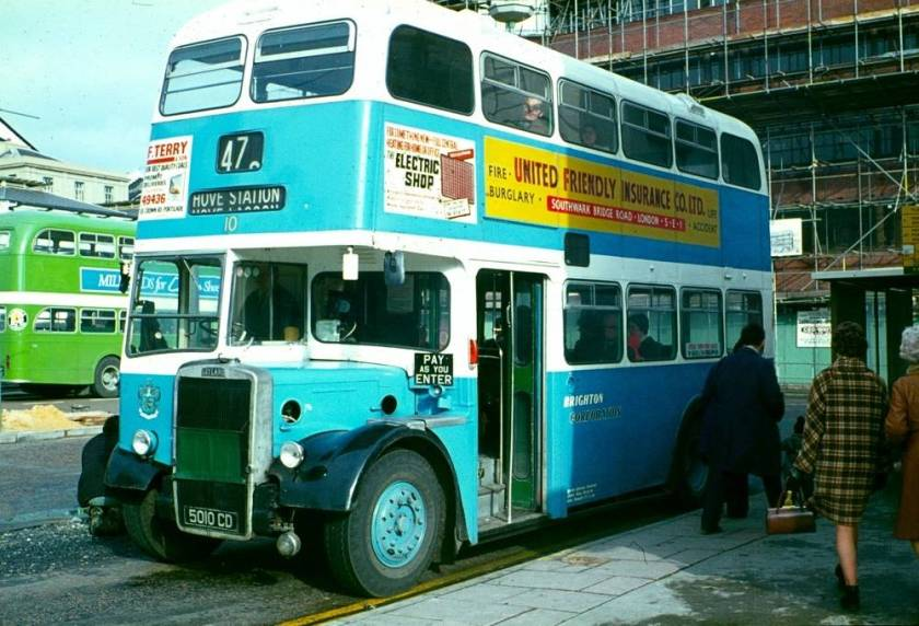 1961 Leyland PD2-37 with a Weymann H37-27F body