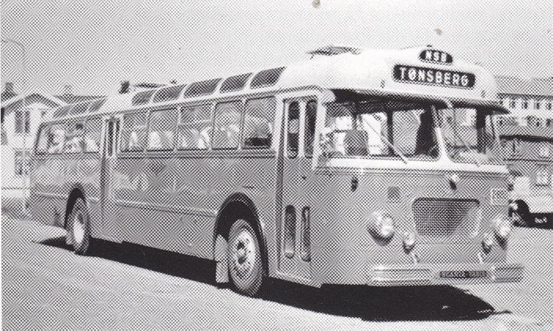 1961 Scania-Vabis BF75-61 mod tilhørende VSB Vestfoldrutene. Bussen hadde M58-karosseri fra VBK